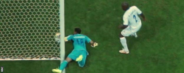 Goalline technology ruled that France striker Karim Benzema's effort against Honduras had crossed the line