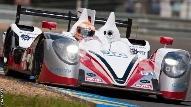 Harry Tincknell in his Nissan Zytek Z11SN on his Le Mans debut