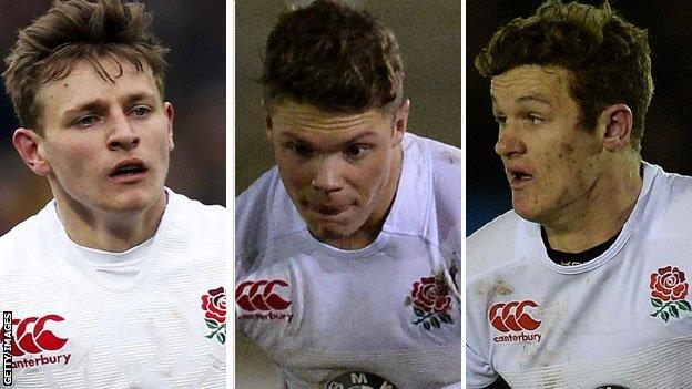 Callum Braley, Henry Purdy and Billy Burns