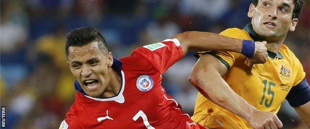 Chile striker Alexis Sanchez