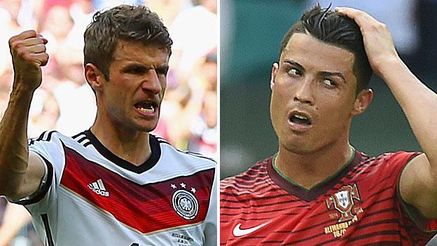 3f0c9348739 World Cup 2014  Thomas Muller outshines Cristiano Ronaldo - BBC Sport