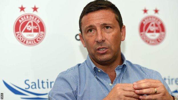 Aberdeen manager Derek McInnes ahead of his team's trip to Dublin