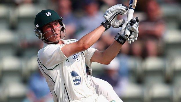 Worcestershire batsman Tom Fell