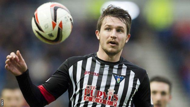 Callum Morris during his spell with Dunfermline