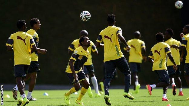 Cameroon in training