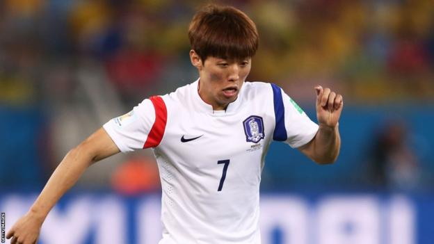 Cardiff City's Kim Bo-Kyung of South Korea in action during his country's 1-1 draw against Russia in Group H at the World Cup in Brazil.