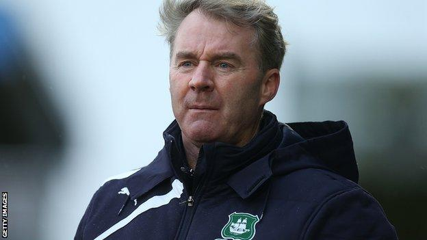 Plymouth Argyle manager John Sheridan