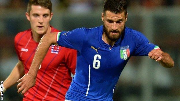 Italy and Lazio midfielder Antonio Candreva