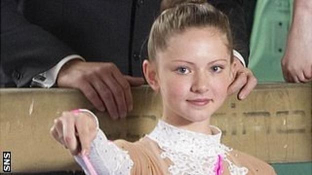 Rhythmic gymnast Lauren Brash