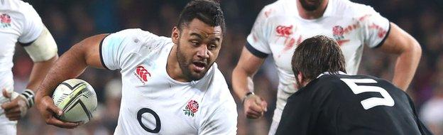 Billy Vunipola on the charge in the second Test
