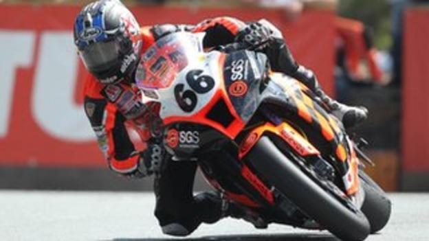 Danny made a steady debut at the Isle of Man TT in June