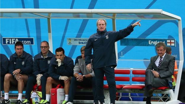 England manager Roy Hodgson (right)