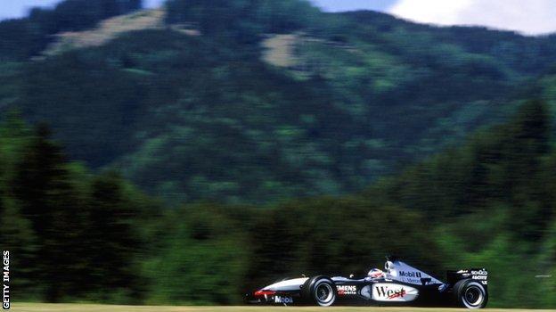 Kimi Raikkonen at the 2003 Austrian Grand Prix