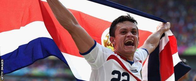 Costa Rica midfielder Jose Cubero