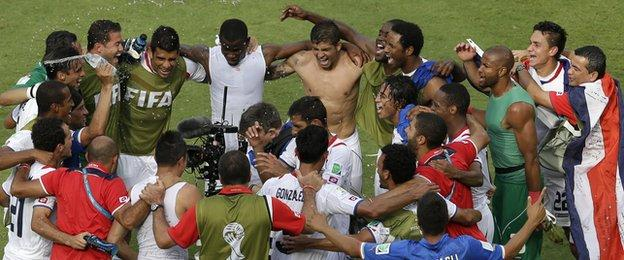 Costa Rica reached the World Cup knockout stages for the first time since 1990