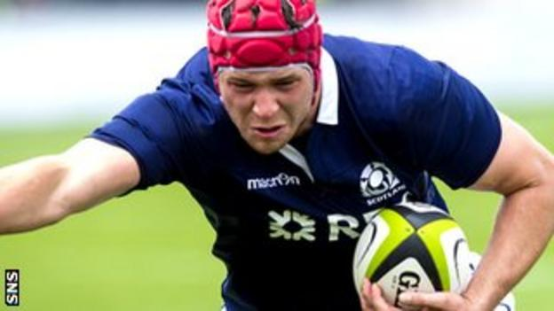 Grant Gilchrist captained the Scots for the first time