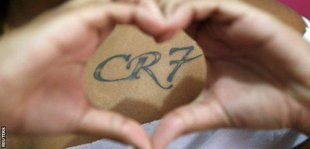 Yasmine Cesar shows her 'CR7' tattoo