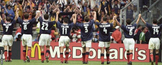 Scotland lost 2-1 to Brazil in the opening game of the 1998 World Cup