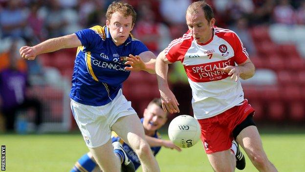 Longford's Barry O'Farrell and Derry's Sean Leo McGoldrick