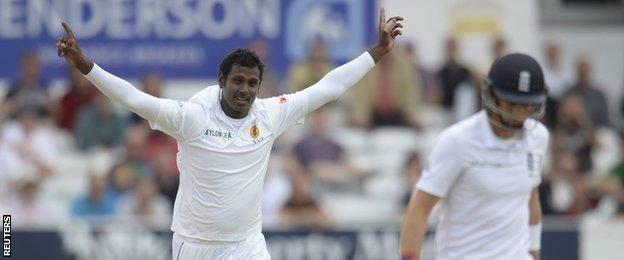 Sri Lanka captain Angelo Mathews removes Joe Root