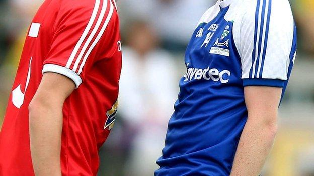 The Tyrone and Monaghan colours