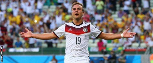 Germany's Mario Gotze