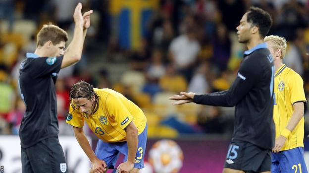 Steven Gerrard celebrates during Euro 2012
