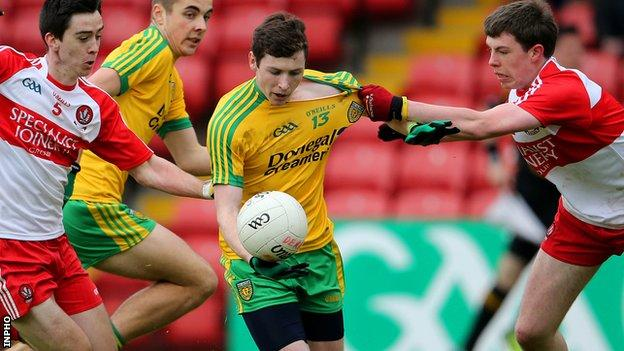 Jamie Brennan notched Donegal's second goal at Clones