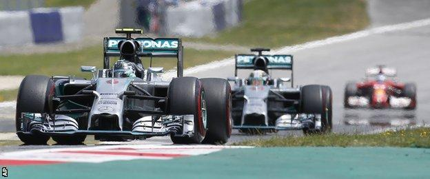 Nice Rosberg and Lewis Hamilton