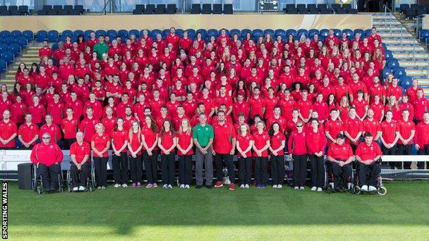 Team Wales were given an official send-off at Cardiff's Swalec Stadium