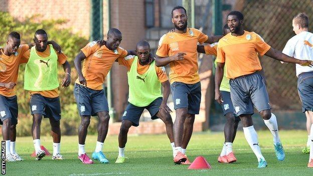 Ivory Coast in training