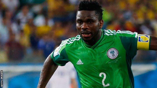 Nigeria defender Joseph Yobo