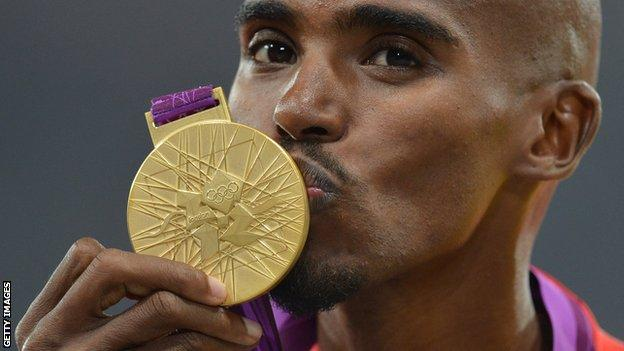 Olympic gold medallist Mo Farah