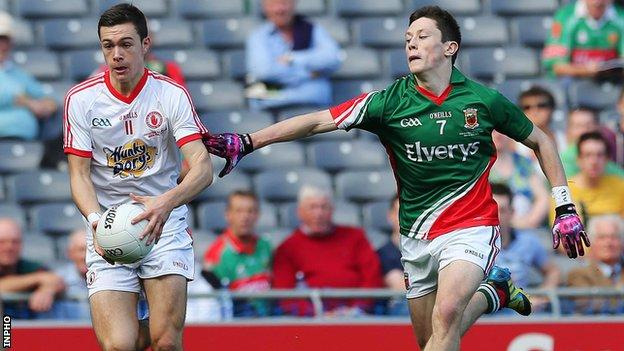 Conor McKenna in action for Tyrone in last year's All-Ireland Minor Final against Mayo