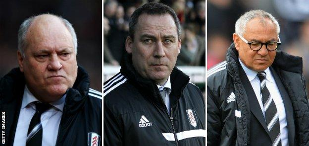 Martin Jol, Rene Meulensteen and Felix Magath