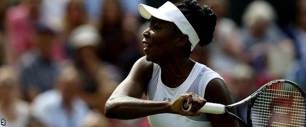 Champion tennis player Venus Williams