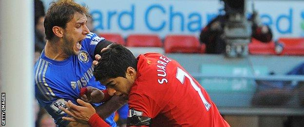 Suarez received a 10-game ban for biting Chelsea's Branislav Ivanovic in 2013