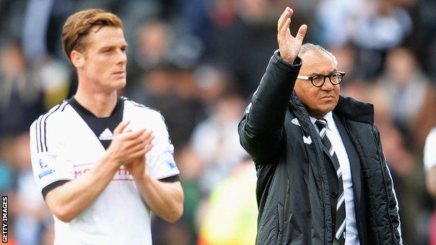 Scott Parker and Felix Magath
