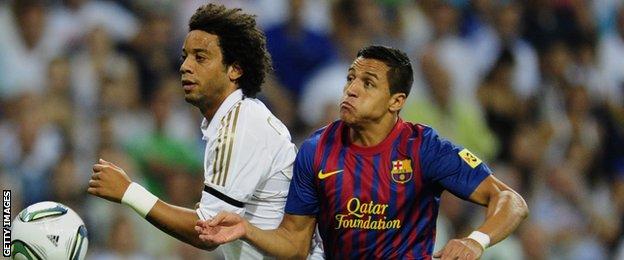 Marcelo (left) and Alexis Sanchez