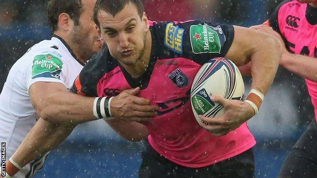 Sam Warburton playing for the Blues