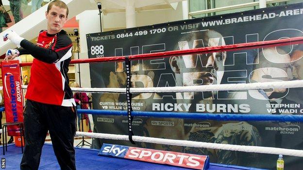 Ricky Burns prepares for his upcoming fight against Dejan Zlaticanin