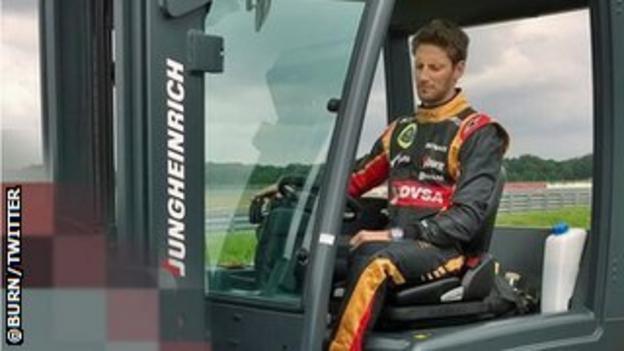 Lotus' Romain Grosjean