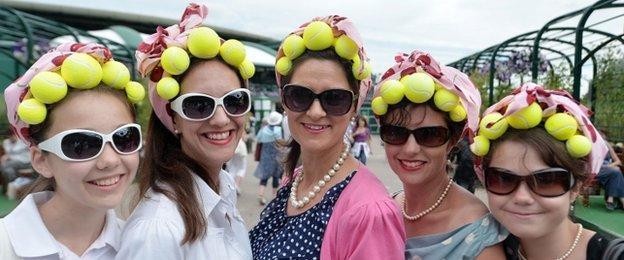 Fans at Wimbledon