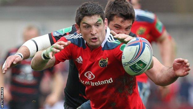 James Downey spent two years at Irish side Munster