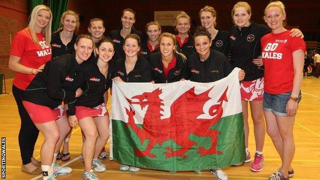 Wales netball team post win
