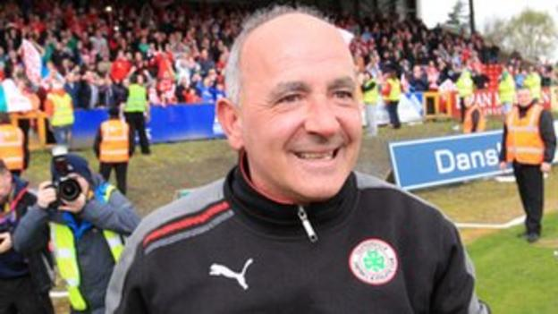 Tommy Breslin has led Cliftonville to successive league titles