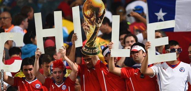World Cup 2014 Chile fans