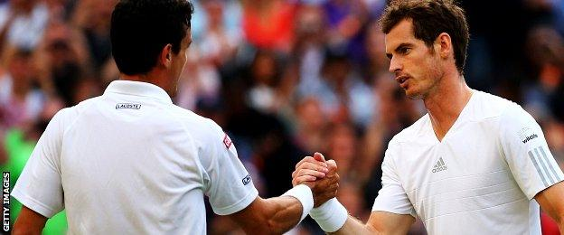 Roberto Bautista Agut and Andy Murray