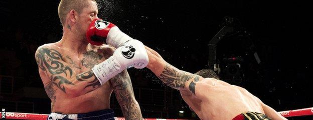 Ricky Burns was on the end of a number of punishing left-hand shots from Zlaticanin on Friday night