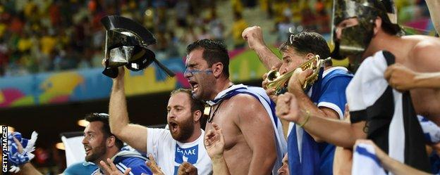 Greece fans
